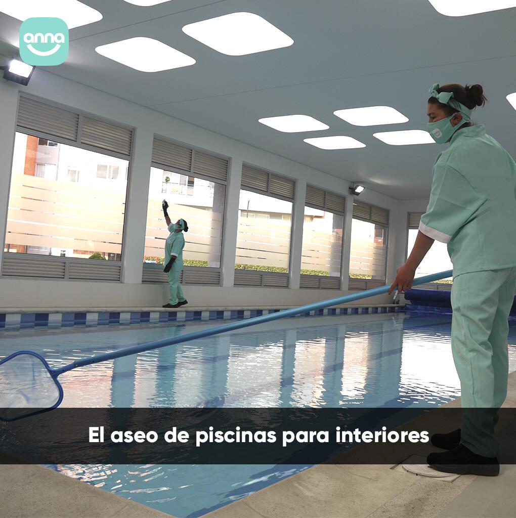 El aseo de piscinas para interiores