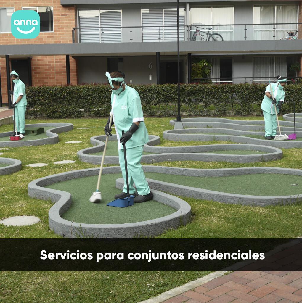 Servicios de aseo para conjuntos residenciales