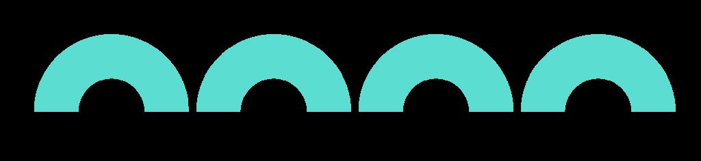 cuatro semicirculos